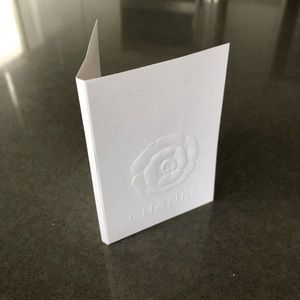 CHANEL Camellia Embossed Paper Card Holder